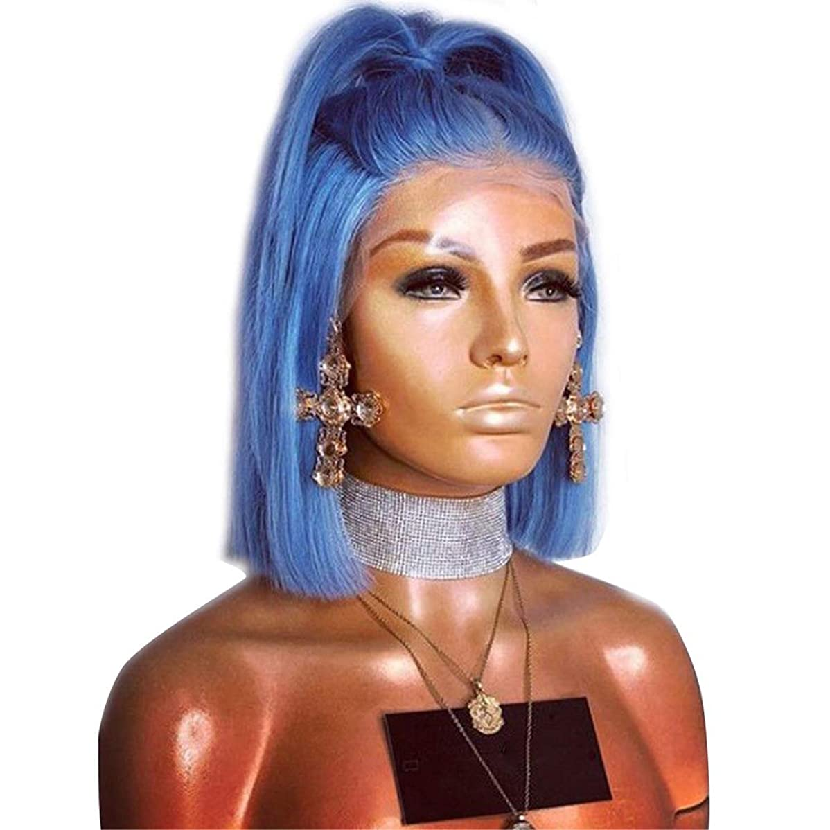 感情保存付き添い人slQinjiansav女性ウィッグ修理ツールファッション女性フロントレース合成ボブストレートヘアウィッグコスプレパーティーヘアピース