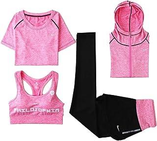 Yoga Wear 4-pieces Set Sport Suits Women's Sweatsuits Yoga Jogging Tracksuits