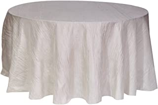 ivory crinkle taffeta tablecloth