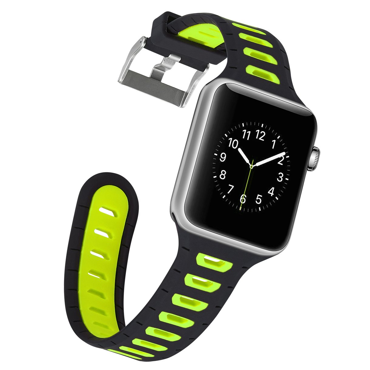 Correa Apple Watch, X-cool de Silicona Sumergible Sport de Reemplazo Banda para iwatch Series 3 2 1 (Verde, 42mm): Amazon.es: Deportes y aire libre