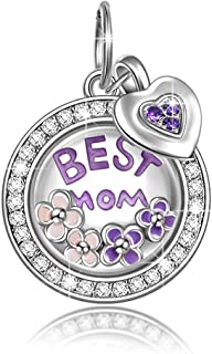 NINAQUEEN Christmas Charms Gifts Best Mom Locket Charms 925 Sterling Silver Dangle Charms Pendant for Necklace&Bracelet Gifts for Her