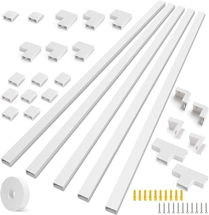239 opinioni per Vemingo Canalina per cavi autoadesiva, bianco, 1 m, 30 mm x 15 mm, con nastro