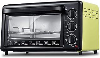 Toaster oven QYJH - Pequeña tostadora de Horno con encimera multifunción -19L - 1200W de Potencia - Tubo de Acero Inoxidable Azul para Calentar, Hornear, Hornear y Mantener - Amarillo Rojo