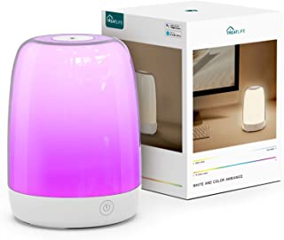 Treatlife Smart Table Lamp Color Changing Night Light, Works with Alexa and Google Home, 2700K-6500K Warm/Cool White Bedside Lamp with Sunrise Simulation & Sleep Aid, Smart Home Touch Lamp