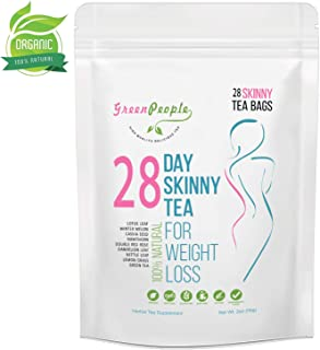 Detox Tea Diet Tea for Body Cleanse - 28 Day Weight Loss Tea, Natural Ingredients, Green People Skinny Tea for Slim, Belly Fat (28days)