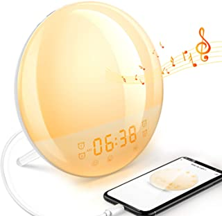Sunrise Alarm Clock for Bedroom Dekala Smart Digital Alarm Clock for Heavy Sleepers Kids Radio Wake Up Light Sleep Aid Sun...