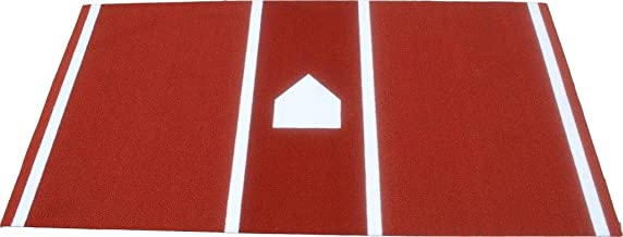 Premium 12' X 6' Baseball/Softball Hitting Mat in Clay/Dirt Color- Foam Backing