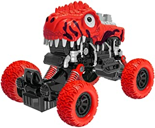 PBOX Dinosaur Monster Truck Toys,Pull Back Cars with Shockproof Spring and Textured Rubber Tires,Toddler Toys for Aged 3-12 Year Old Boys & Girl Vehicles Gift (6)