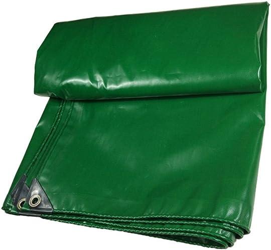 CAOYU Bache imperméable à l'eau en Tissu imperméable à l'eau de Prougeection Solaire en Bois Tissu de Prougeection en Tissu Camion auvent, Vert