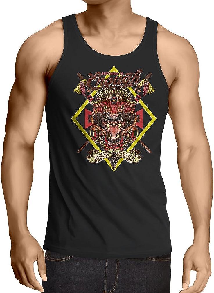Camisetas de Tirantes para Hombre Nada es Suficiente: entra en lo Salvaje: Ropa Urbana, Swag, Hippie, Estilo Hipster