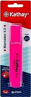 Kathay 86211853. Marqueur fluorescent, couleur rose, pointe biseautée 4 mm