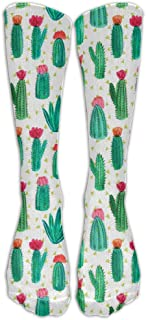 Flying XIE Cactus With Flowers Stocking Tube Sport Athletic Socks