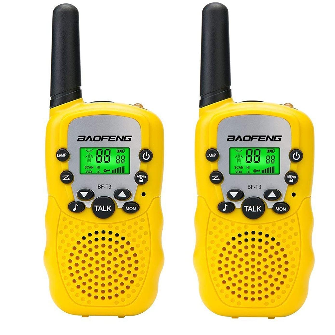 Walkies Talkies for Kids,Mini Two Way Radios for Boys Girls Children Gift,UHF 462-467MHz Frquency 22 Channels(2pcs Yellow)