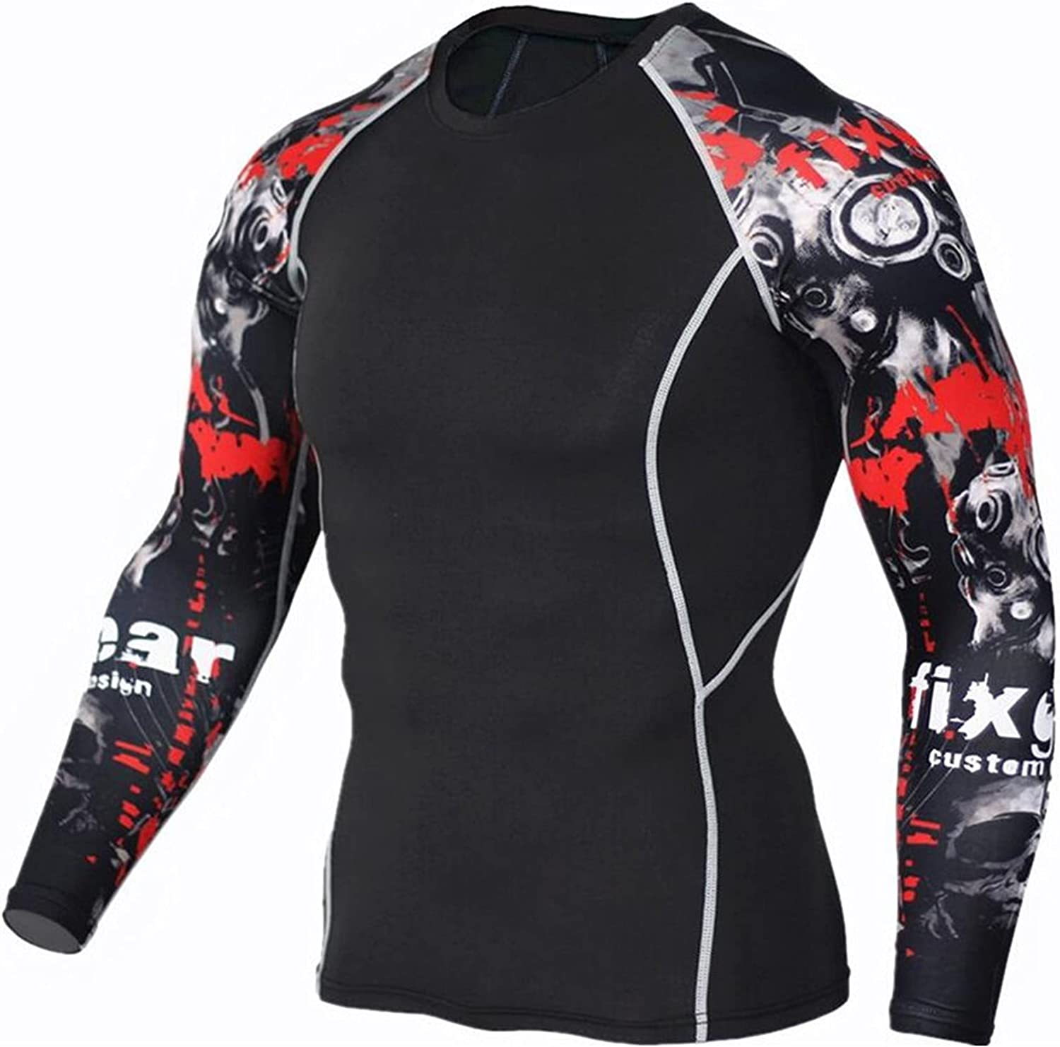 JSPOYOU Men's Long Sleeve Compression Sports Shirts Workout Top Cheap mail order Spring new work sales