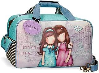 Gorjuss Friends Walk Together, Borsa da Viaggio Ragazza, Viola, 45x25x25 CMS