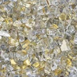 Lakeview Outdoor Designs 1/2-Inch White Gold Reflective Fire Glass - 20 Pounds