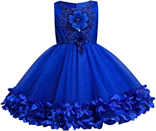 Flower Girls Vintage Floral Lace Bridesmaid Wedding Pageant Birthday Party Princess Communion Formal Dance Gown for Kids