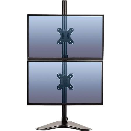 Fellowes Monitorarm Mit Standfuß Höhenverstellbar Professional Series Für 2 Monitore übereinander Bis Je 81 28 Cm 32 Zoll Schwarz Bürobedarf Schreibwaren