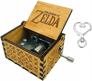 Cuzit The Legend of Zelda - Caja de Música, Diseño de la Película Antigua, Tallada a Mano, Madera