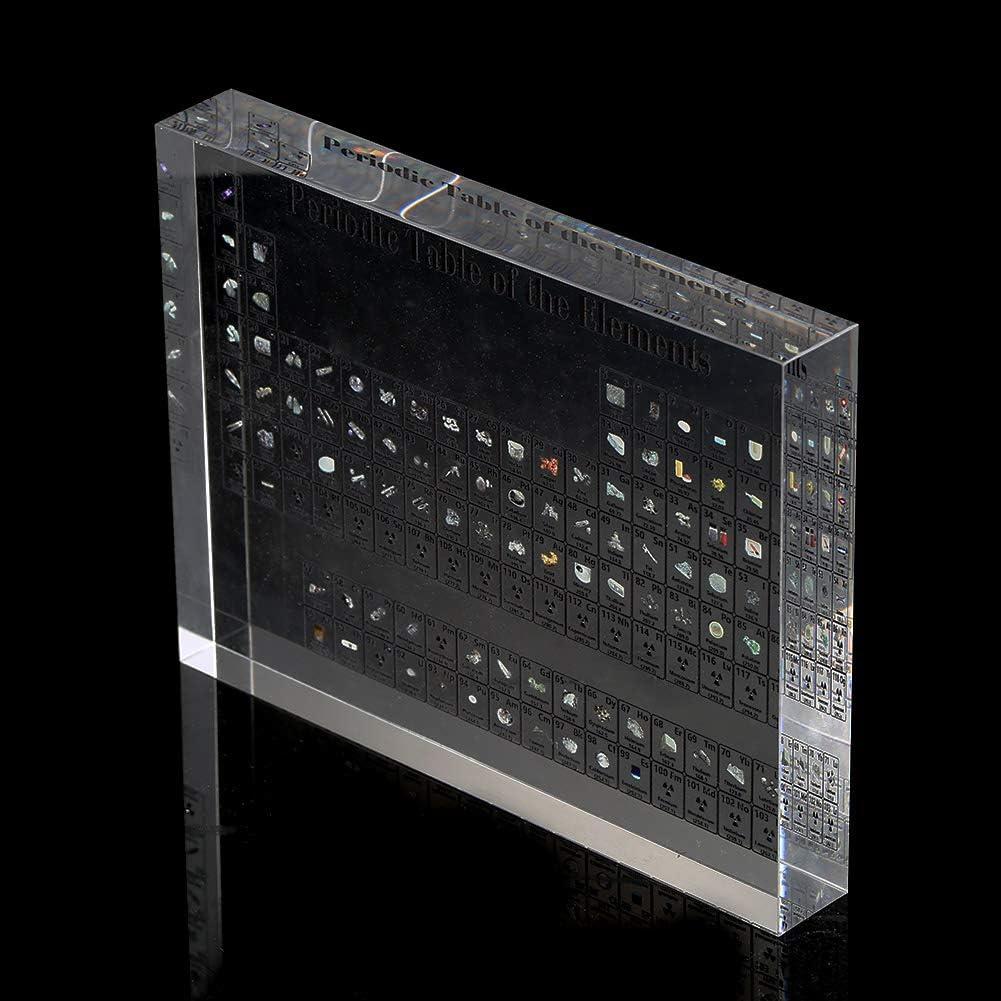 Frazazy Tableau p/ériodique des /él/éments Chimiques et de v/éritables /él/éments en Acrylique 150X114X20MM Transparent