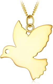 MOSYNE Simple Peace Pigeons Pendent Necklace for Women