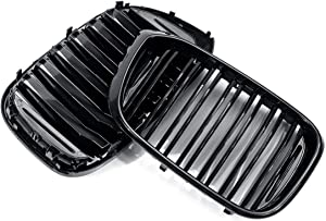 MDYHJDHYQ Front Air Grille Front Bumper Grille for B M W G01 X3 G02 X4 2018~2019 Glossy Black Front Bumper Grille Mesh Grill