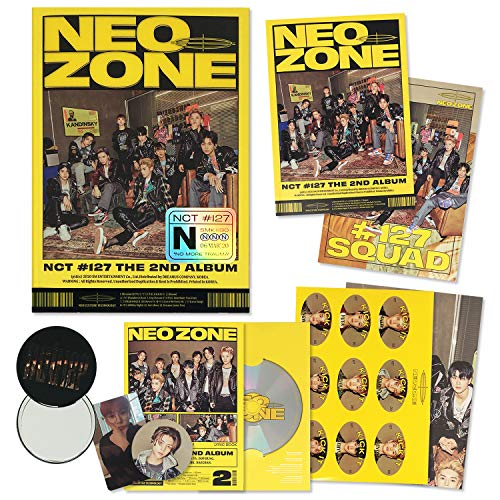 NCT 127 2nd Album - NCT # 127 NEO ZONE [ N ver. ] CD + Photobook + Lyrics Book + Postcard Posters + Sticker + Folding Poster + Photocard + Circle Card + FREE GIFT / K-POP Sealed