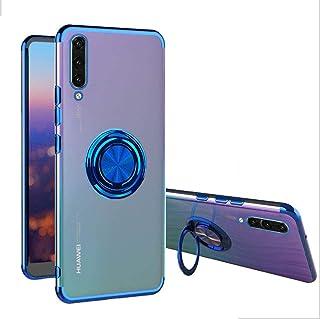 XCYYOO Coque pour Huawei P30,Magnétique Ultra Mince Aimant Housse pour Voiture Téléphone Support avec Anneau Kickstand, Tr...