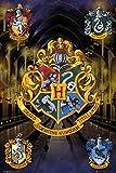 Harry Potter 1art1 Wappen, Hogwarts, Hufflepuff, Slytherin,