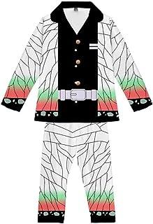 Pyjama Sets Anime Demon Slayer Teens Loungewear Soft Comfortable Pajamas Top & Bottoms 2 Piece