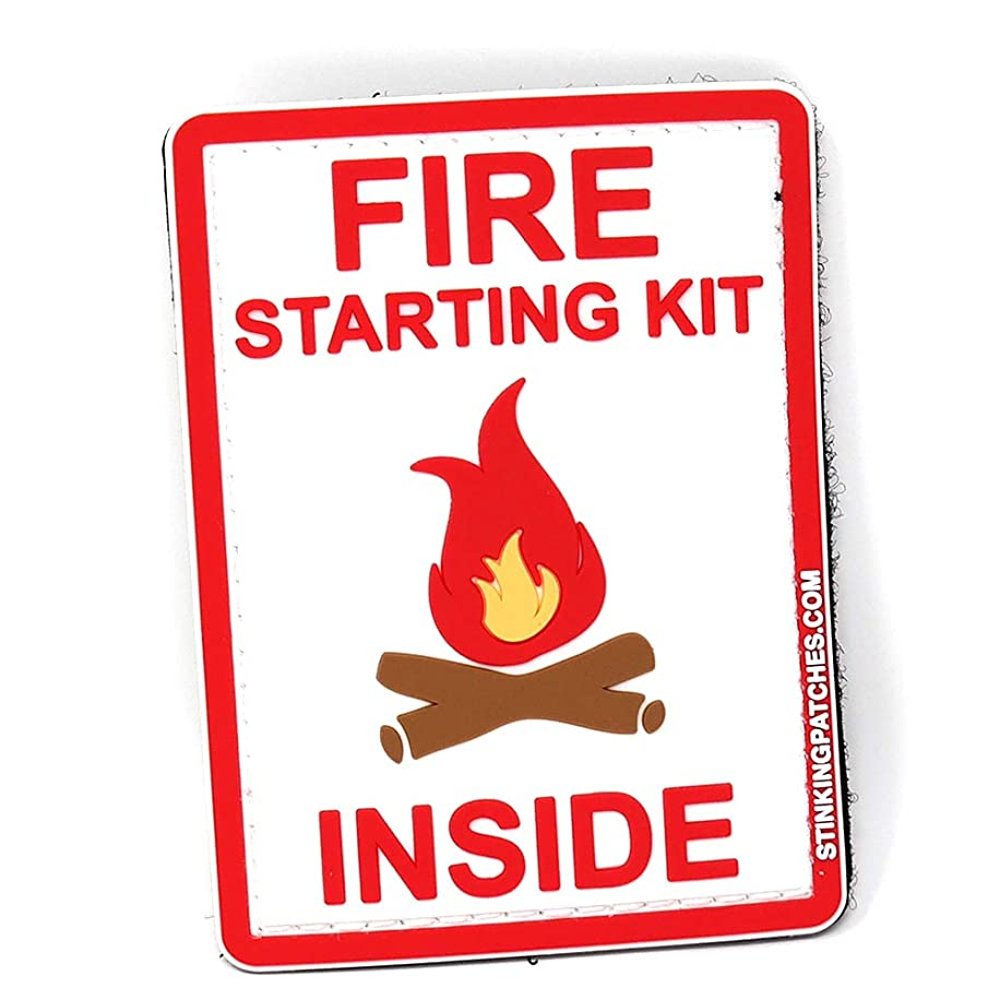 Fire Starting Kit Inside PVC Tactical Patch | Perfect for Your Survival Kit!