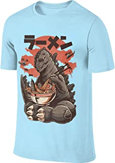 AHDDO Black Amazing Godzilla Ramen Men's Short Sleeve T-Shirt