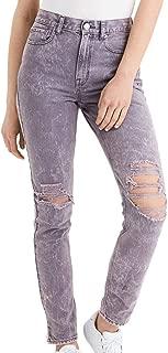 American Eagle Womens 2202961 Mom Jean, Pink Tint Grey Wash