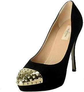 VALENTINO Women's Rockstud Suede High Heel Platform Shoes US 10 IT 41 Black