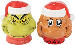 Vandor Dr. Seuss Grinch Sculpted Ceramic Salt & Pepper Set