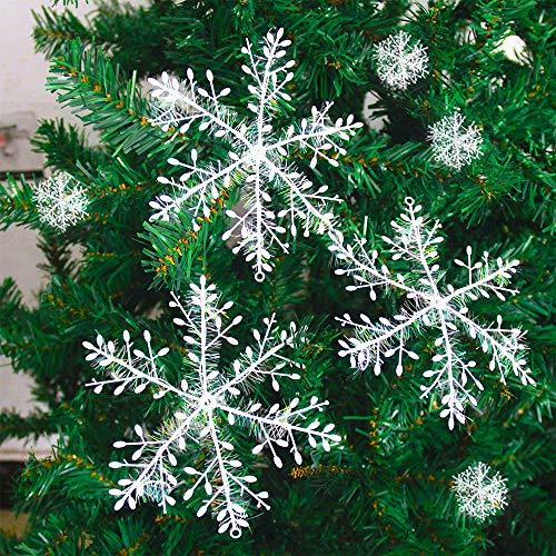 Mitening 60 Schneeflocken Fensterbild, Fensterbilder Weihnachten, Winter-deko Weinachts Dekoration, Weihnachten Fenstersticker für Weihnachten Advent Winter Dekoration, Türen, Schaufenster, Vitrinen