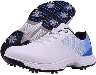 Zakey أحذية الجولف المضادة للماء الرجال المهنية مسامير الجولف أحذية المشي الأبيض في الهواء الطلق للرجال