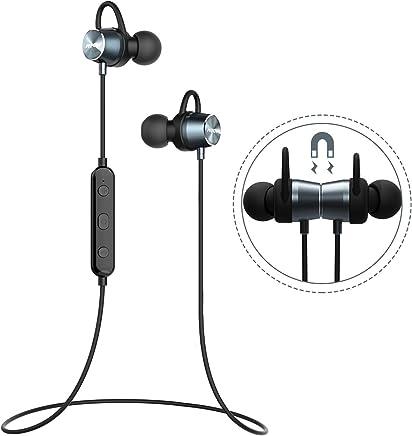 Mpow Auricolari IPX7 Magnetico Bluetooth 4.1 Cuffie Bluetooth, Auricolari Magnetico Stereo Wireless Sport Auricolari Magnetico per iPhone, iPad, LG, Samsung, Sony, Huawei ed Altri Smartphone-Blu