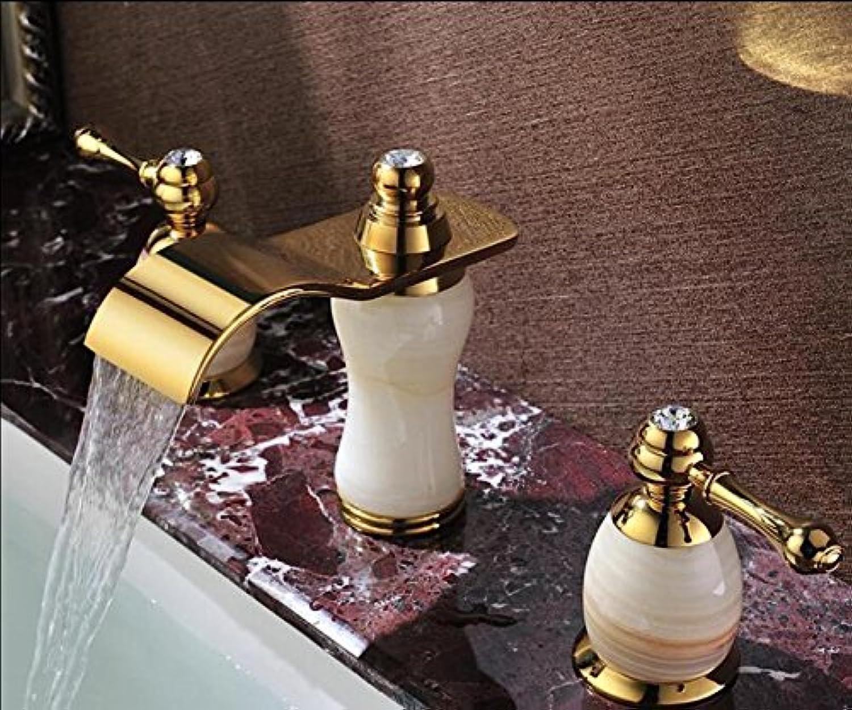 JIAHENGY Waschbeckenmischer Wasserhahn Mischbatterie Armatur Kreative Moderne Trend Mode Einfach Centerset Griff Ein Loch Wasserfall aus Messing, verchromt, WC Küche Badezimmer