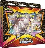 Pokémon EB04.5 : Coffret Pins Dedenne/M. Glaquette de Galar-Destinées Radieuses-Jeu de Cartes à Collectionner (Modèle aléatoire), POK45PIN01