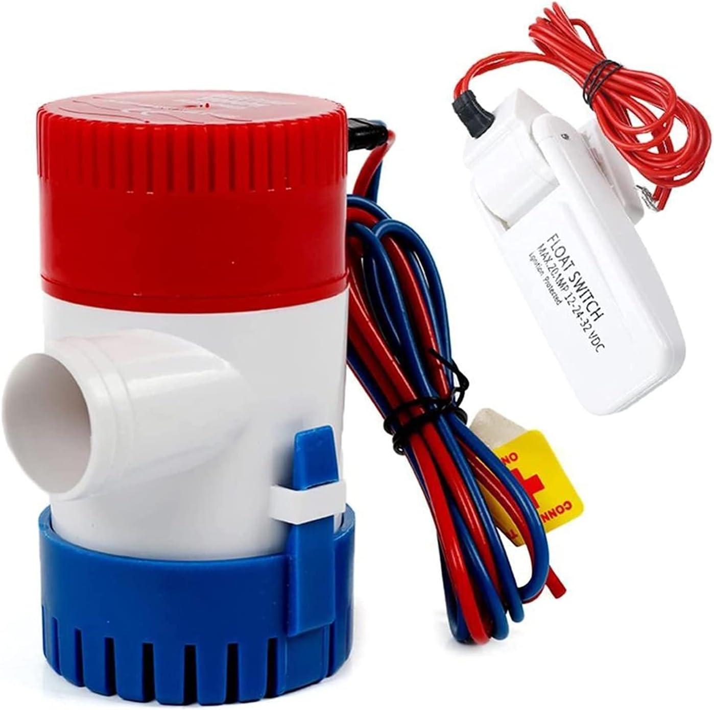 half Automatic Submersible Small Boat Dedication Bilge Electric 12V Pump 1100GPH