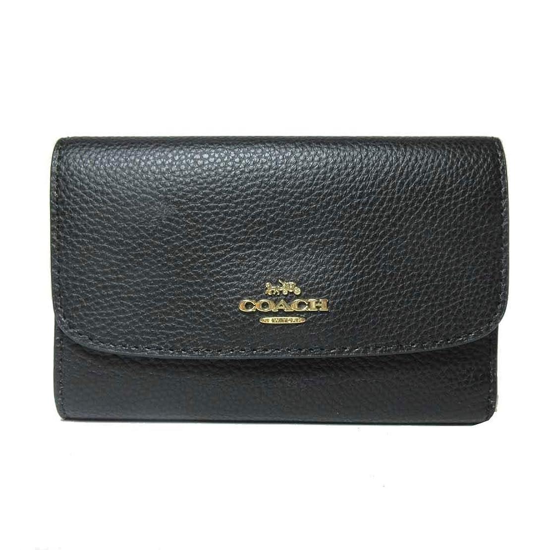 タイヤ誓うふくろう[コーチ] COACH 財布 (三つ折り財布) F30204 ブラック レザー 三つ折り財布 レディース [アウトレット品] [ブランド] IMBLK [並行輸入品]