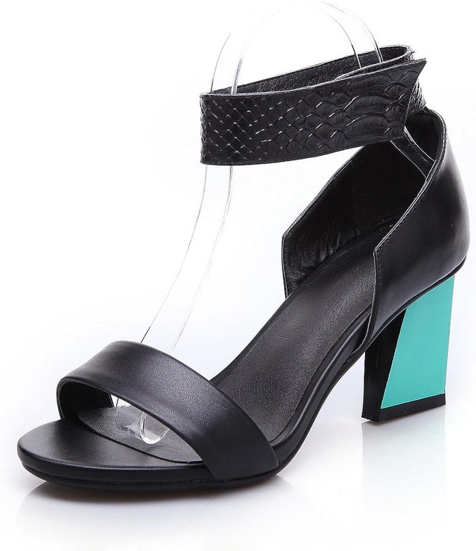 1TO9 Ladies Camel Assorted colors Unique Platform Ankle Cuff Cow Leather Sandals