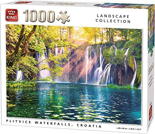KING 55937 Plitvice Cascadas Rompecabezas de 1000 Piezas, a Todo Color