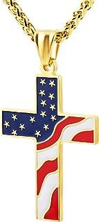 Best gold american flag pendant Reviews