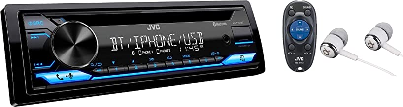 JVC Single-Din Built-in Bluetooth, Dual Phone Connection, Android Music Playback, CD MP3..