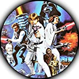 Star Wars Darth Vader Yoda Luke Skywalker Photo Sugar Frosting Icing Cake Topper Sheet Birthday Party - 8' ROUND - 75157