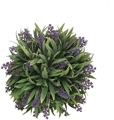 """pack of 4 9/"""" Artificial Lavender Ball Cream Frosted Indoor Outdoor Plant"""