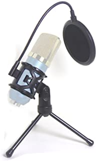 Desktop Microphone Tripod Suspension Stand with Shock Mount Anti-Vibration Mic Holder and 4