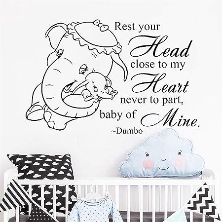 FINDING NEMO VINYL LETTERING HOME WALL DECAL DISNEY NURSERY BABY ROOM CRIB #OD